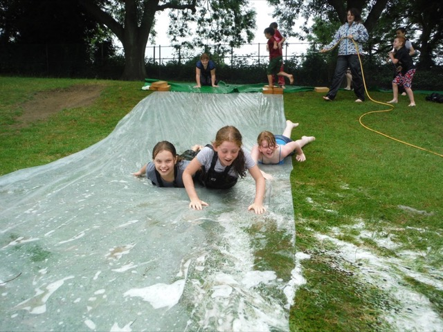 Busy Bees Group 2 Watersliding