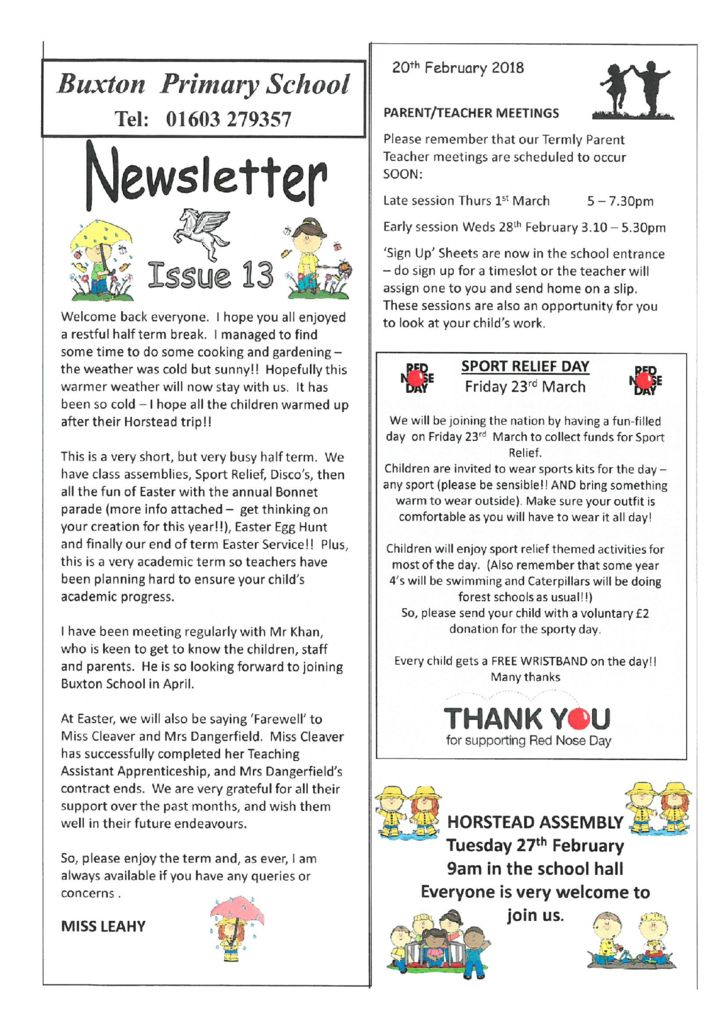 Newsletters – Page 4 – Buxton Primary School