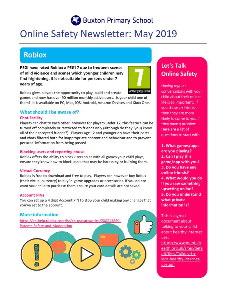 thumbnail of Online Safety Newsletter May 2019_Buxton